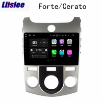 Liislee 2 din Android Car Navigation GPS For Kia Cerato Forte 2008~2012 Big Screen Stereo Multimedia Player Bluetooth