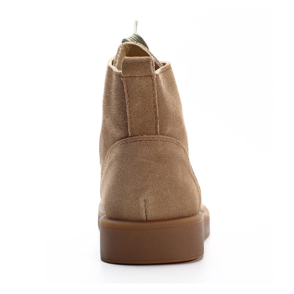 신발 여자 발목 부츠 100% 정품 가죽 여성 부츠 라운드 발가락 레이스 부츠 여성 신발 (h189)-에서앵클 부츠부터 신발 의  그룹 3