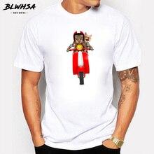 Camiseta gatos en vespa