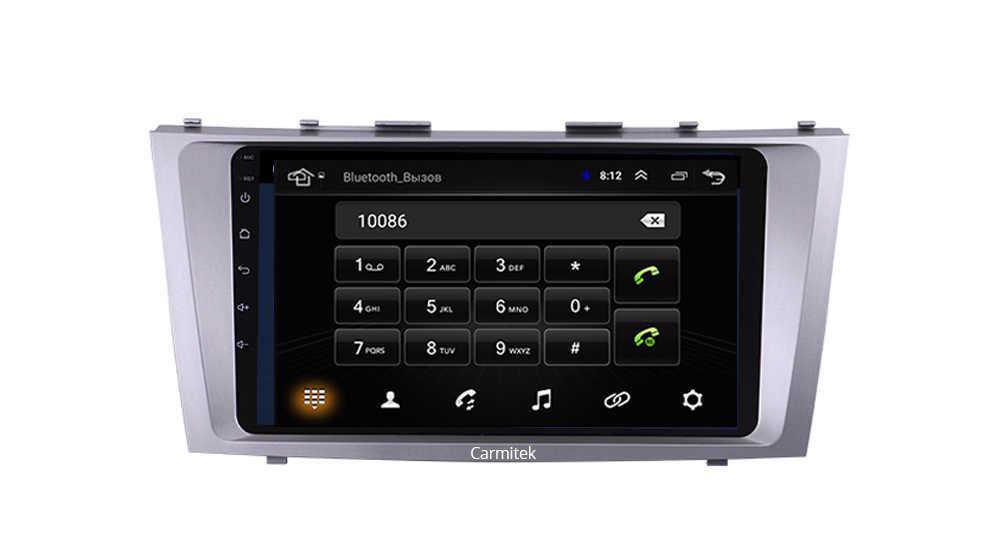 2G + 32G أندرويد 9.0 4G راديو السيارة الوسائط المتعددة مشغل فيديو الملاحة لتحديد المواقع واي فاي 2 الدين لتويوتا كامري 40 50 2006-2011 لا dvd