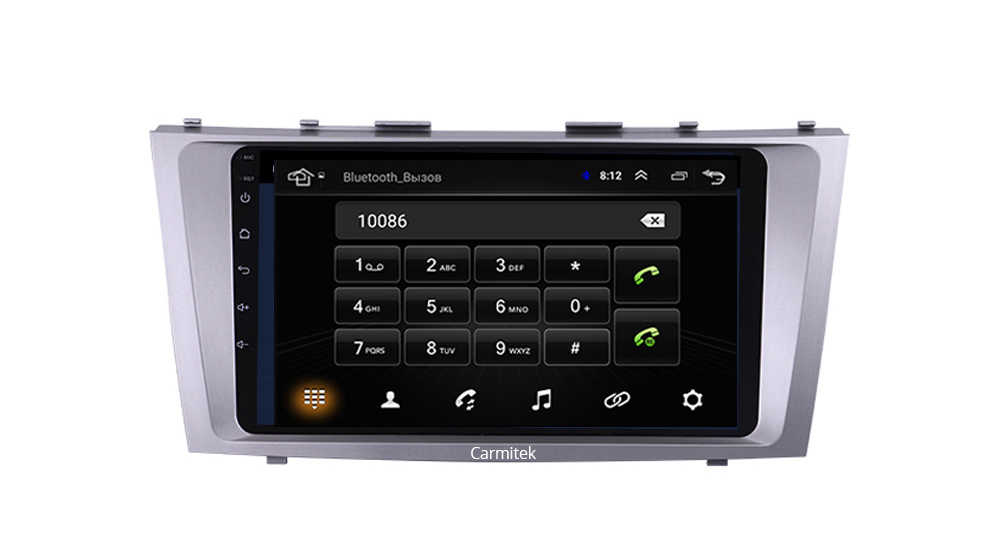 2G + 32G Android 9,0 4G auto Radio Multimedia reproductor de vídeo de navegación GPS WiFi 2 din para Toyota Camry 40 50 2006-2011 no dvd