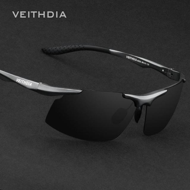 Veithdia Brand Aluminum Polarized Sunglasses Men Sports 3Color lense Sun Glasses Driving Glasses Mirror Eyewear Accessories 6535