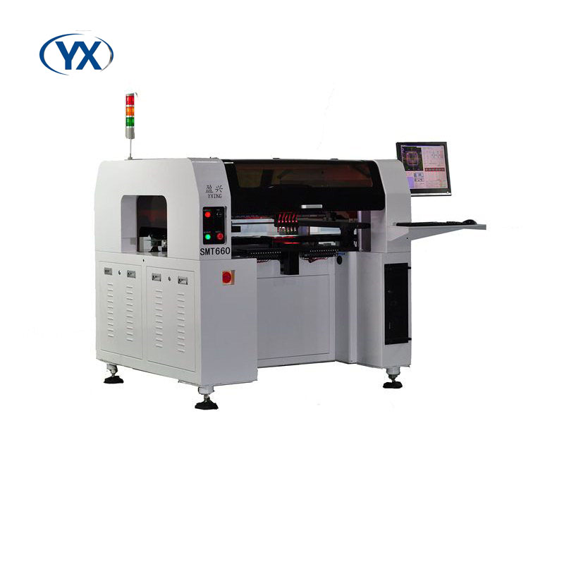 6 Heads Electronic Equipment With Servo Motor SMT660 Pick and Place Machine