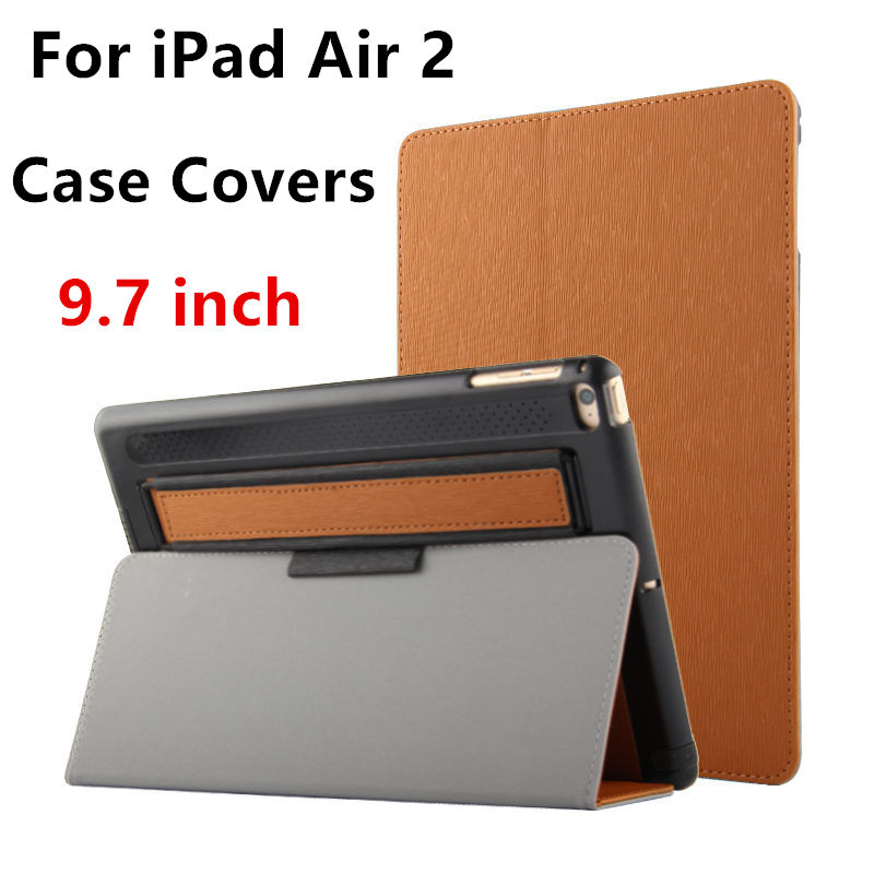 Case For Apple iPad Air 2 Protective Smart cover With Stand Card Leather Protector For ipad Air2 6 Tablet 9.7 inch Cases covers hand strap shockproof stand case armor cover for ipad air 2 ipad 6 full protective stand case for ipad air2 ipad6