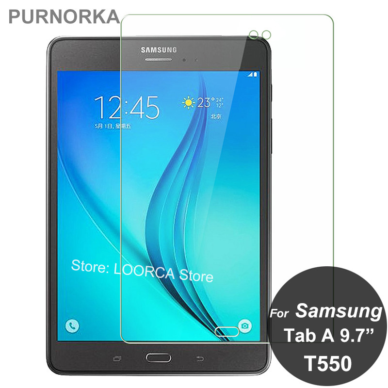 For Samsung Galaxy Tab A 9.7 T550 T551 T555 Tempered Glass 9H Screen Protector Safety Protective Film On TabA T 550 551 555