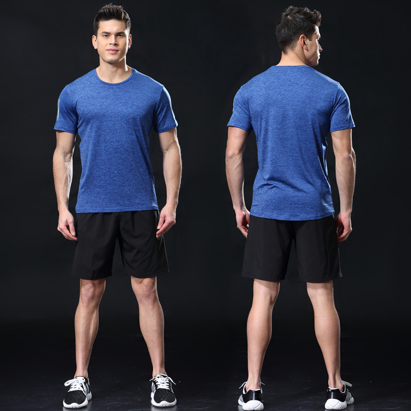 Men Running Suit Short Sleeve+Shorts Basketball Training Tracksuit Quick Dry Loose T-shirt Sports Gym Fitness Jogging Sportswear