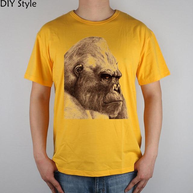 4b38a7ee Tattoo S, Tattoos, Gorilla. K=King Kong Skull Island King Kong T-shirt Top  Lycra Cotton Men T shirt New DIY Style