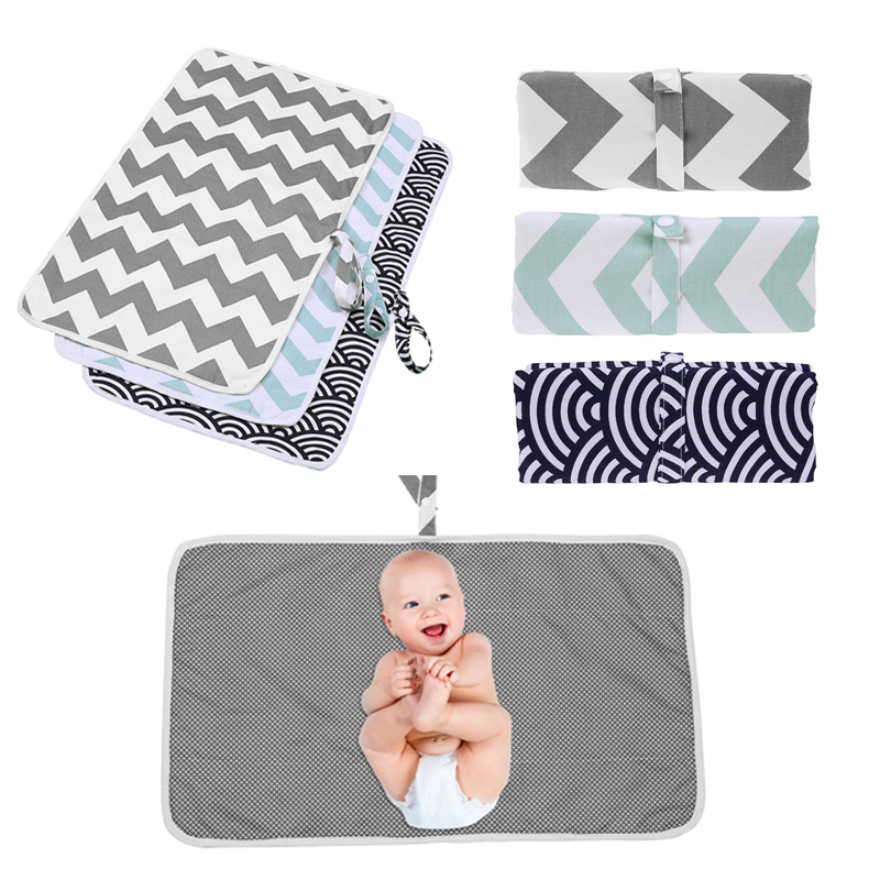 Folding Baby Nappy Changing Pad Waterproof Infant Diaper Change Mat Outdoor Stroller Baby Nappy Mat Cover