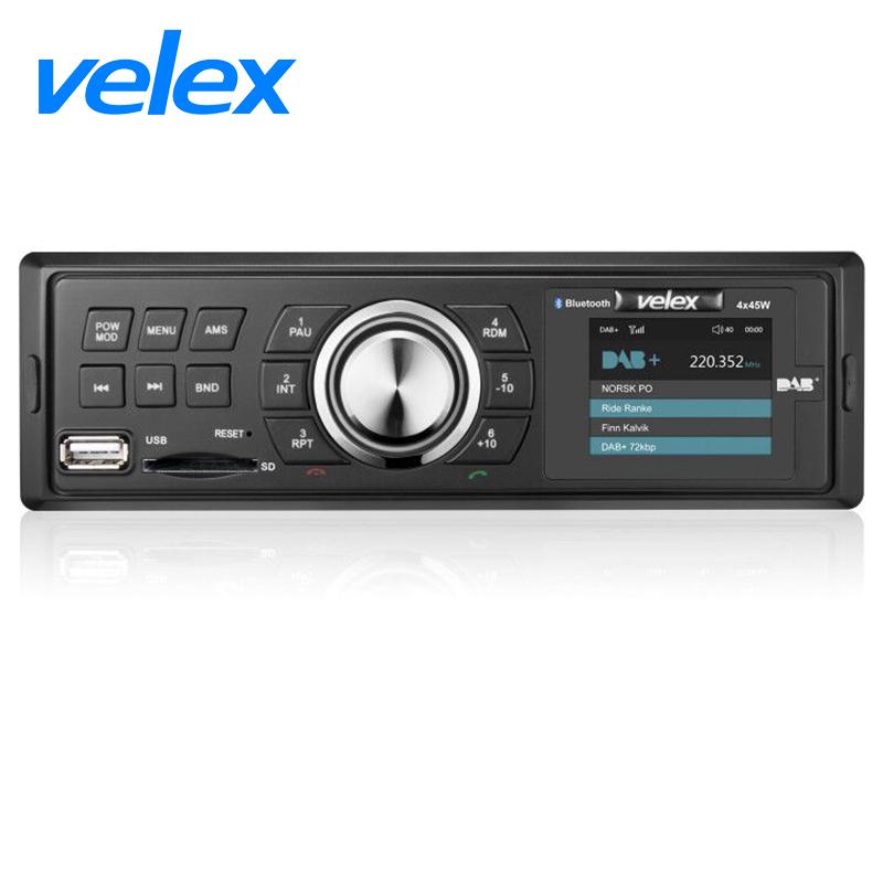 Car DAB Receiver with AM FM RDS Bluetooth MP3 4X45W DHL Prompt Delivery