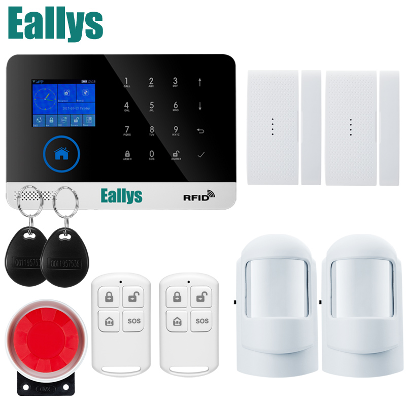 English/Russian/Spanish/German Switchable WIFI GSM RFID card Wireless Home Security Arm Disarm Alarm system APP Remote Control secual box v2 etiger wifi alarm system gsm safety alarm system with rfid reading keypad arm disarm alarm system