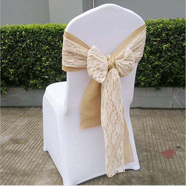 White Chair Sashes Cover Rentals Oahu Elegance Wedding Party Hotel Supply Mix Color Hemp Lace Banquet Without