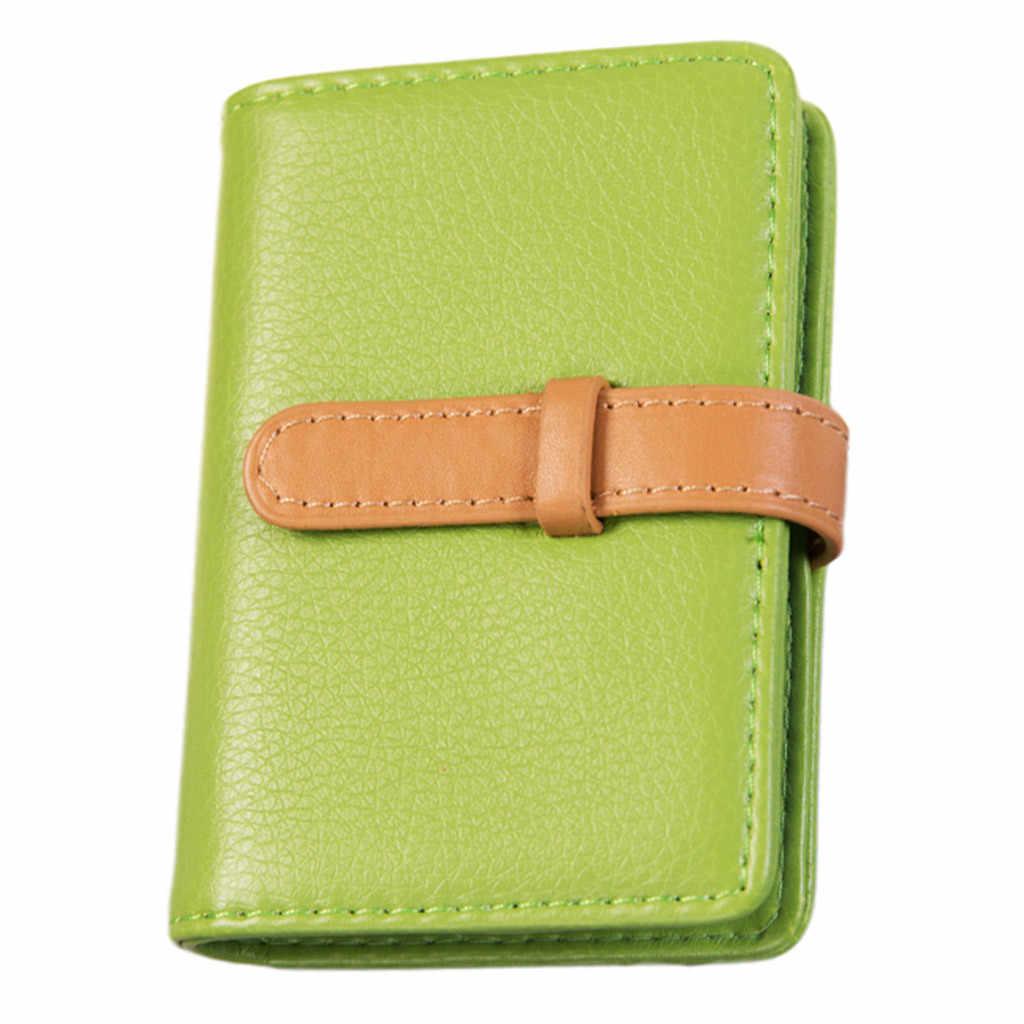 Мужская и женская сумка для карт, одноцветная простая карта, большая емкость, картеира masculina, мужской кошелек, высокое качество