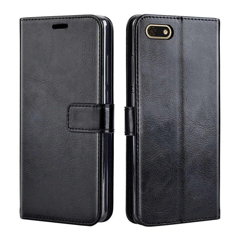 Luxury Flip leather case For Huawei Honor 7A 7 A Honor7A DUA-L22 Russian Version case back phone cover case on Honor 7A Pro