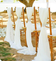 180CM X 280CM Wedding Chair Sashes Cover Clips Party Decoration White Wedding Party Birthday Party Decorations