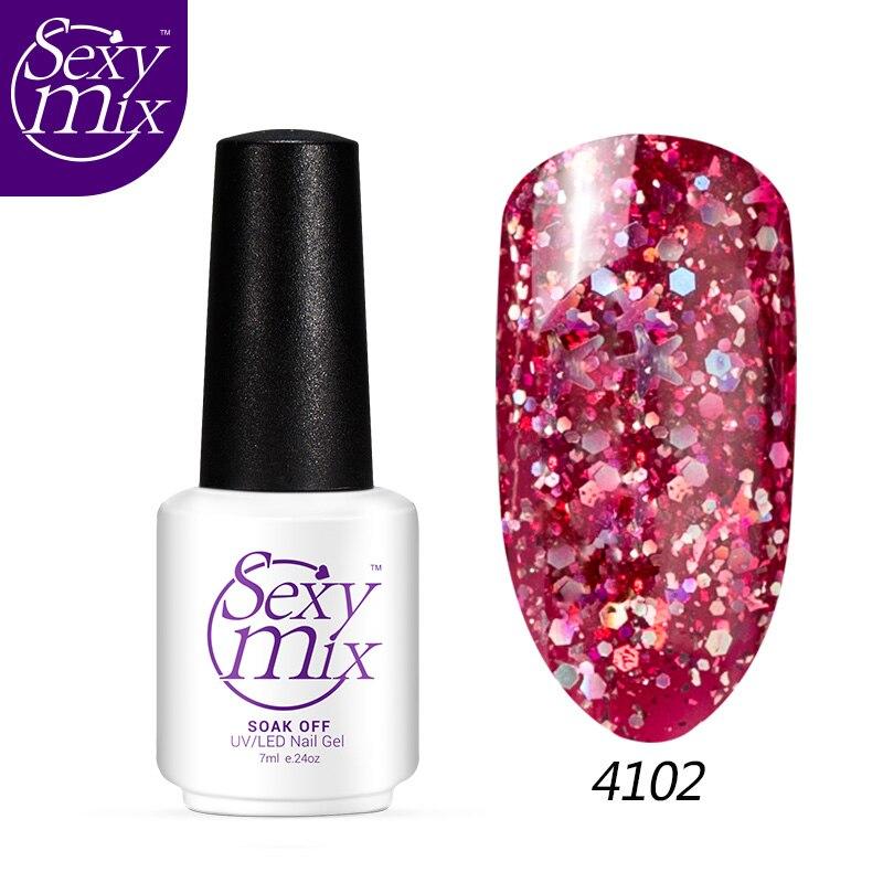 Sexymix 2017 Colorful Professional Glitter Effect Կապույտ - Մանիկյուր - Լուսանկար 1