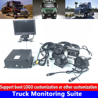 AHD960P / 720P 256G SD card audio and video 4 channel PAL / NTSC truck monitoring set semi trailer / muck / heavy machinery