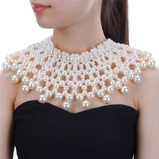 Collier épais pour femmes en 10 couleurs, collier et bavoir, ras du cou, fait à la main, bijou Maxi pour fête de mariage