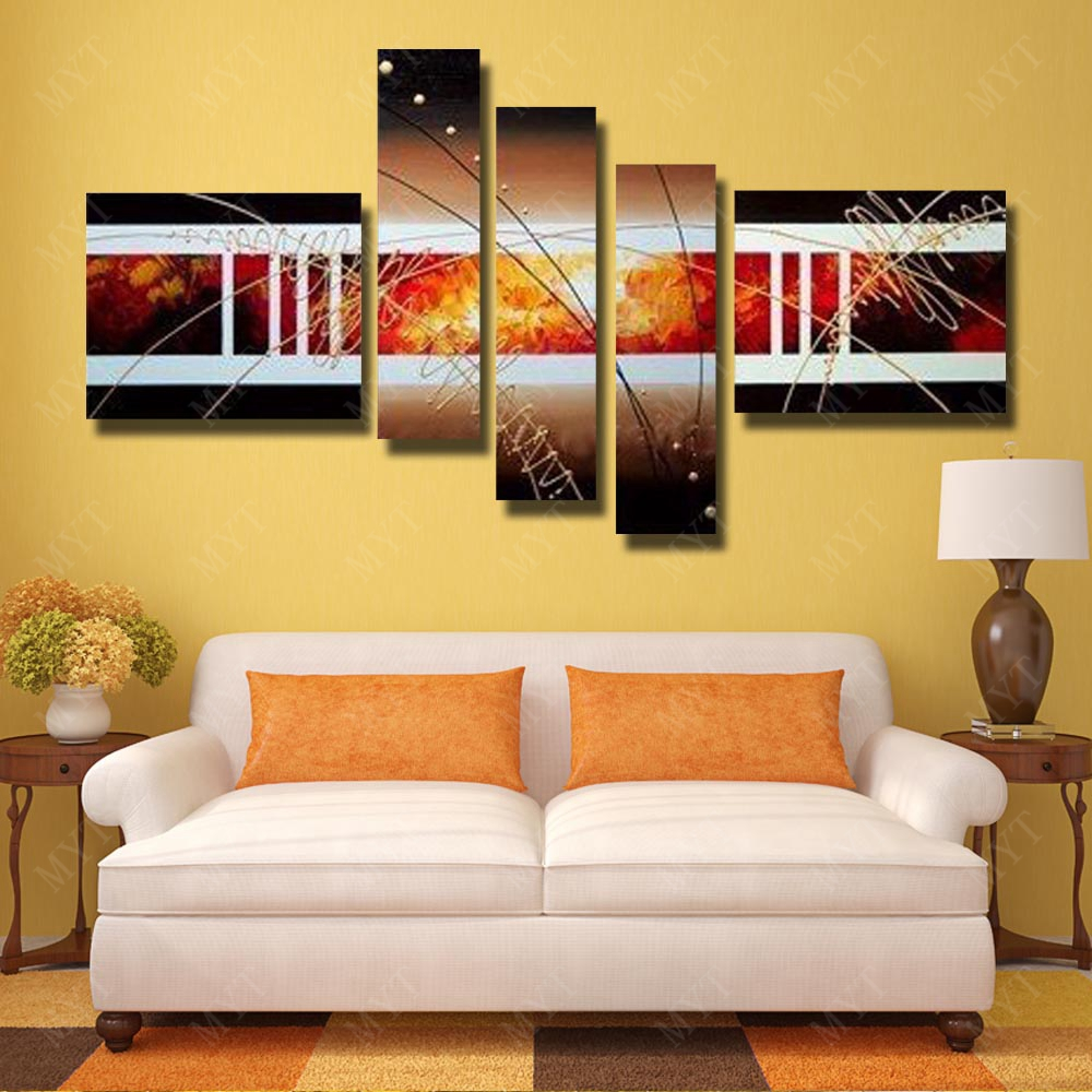 Aliexpress.com : Buy Big Size MYT Wall Art Hand Painted Oil Painting ...