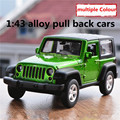 1:43 alloy pull back cars,high simulation Jeep Wrangler model,2 open door,matte paint,metal diecasts,toy vehicles,free shipping
