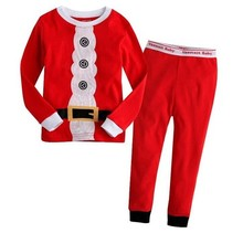 Spring and autumn new children's clothing boy child Christmas style long nightshirt suit boy tracksuits kids sport suits