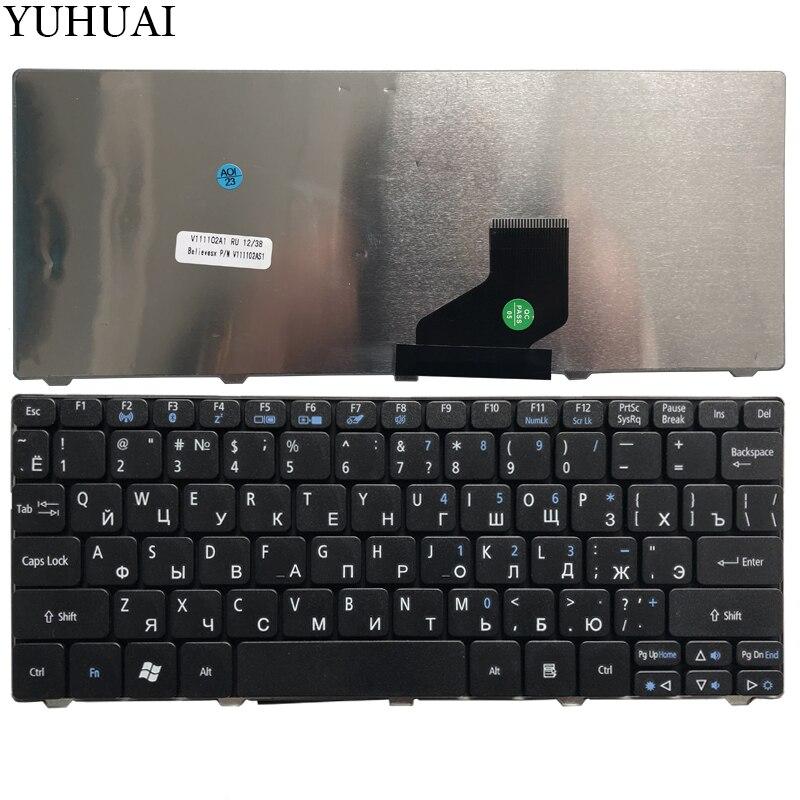Para acer aspire um d255 d260 d257 d270 d255e 522 aod257 aod260 ao521 ao532 ao533 532 532 h 521 533 ru teclado do portátil russo