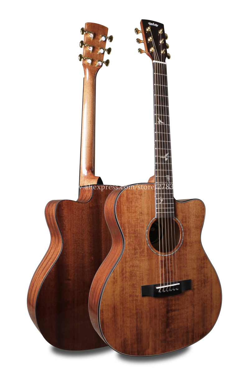 professional 40 cutaway acoustic guitar solid spruce top mahogany body guitars china with hard. Black Bedroom Furniture Sets. Home Design Ideas