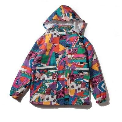 Parkas men jacket Couple Fashion oversize Color Patchwork loose Hooded coat Casual Hip Hop Removable long Jackets Streetwear Top