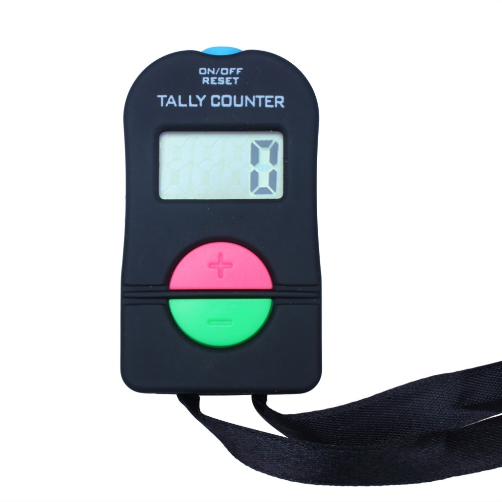 2 X Digital Counter Portable Tally Timer Handheld Manual 4 Digit Counting For Golf Chronometry Sports Buddhism Muslim