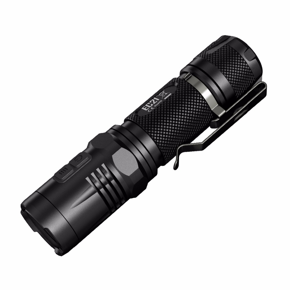 Small Torch NITECORE EC21 Black CREE XP-G2 (R5) LED max.460 lumen 194 meter beam distance portable flashlight for outdoor sports