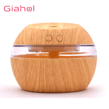 300ml Portable Ultrasonic Aroma Humidifier USB Aromaterapy Diffuser Wood Grain LED Night Light Cool Mist Maker For Home Office usb 300ml humidifier purifier wood grain led aroma essential oil diffuser mist maker led night light for office home 7 color led