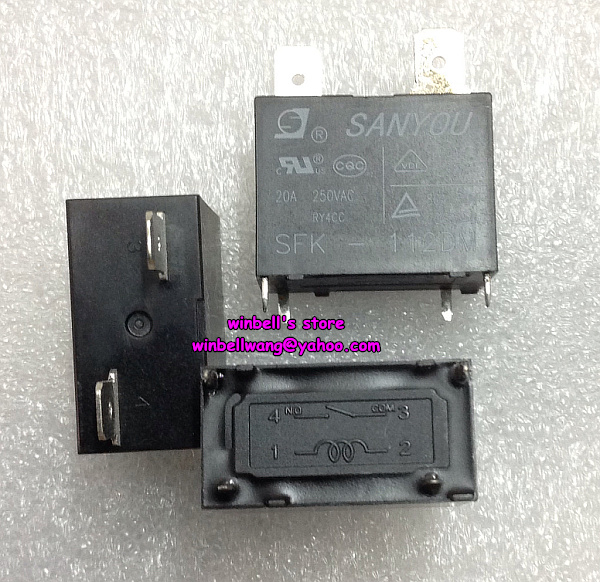 30pcs Original SANYOU SFK 112DM air condition relay 20A 250VAC new in stock