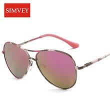 Simvey 2017 Mode Enfants lunettes de Soleil Polarisées De Luxe Marque Designer Bébé Garçons Fille Lunettes de Soleil Miroir Objectif UV400 Haute Qualité