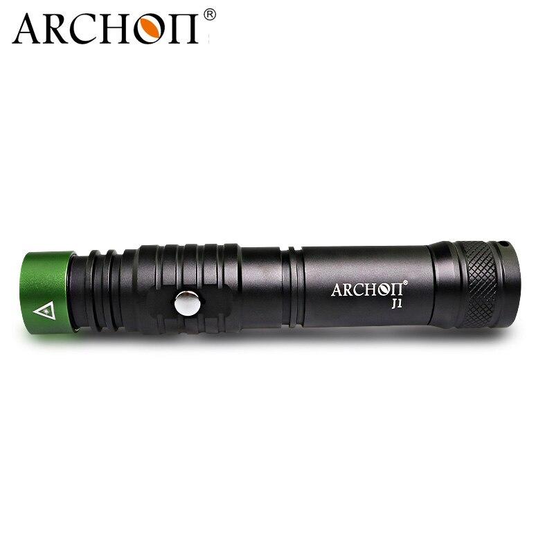 ARCHON J1 100 m pointeur Laser de plongée pointeurs Laser vert torche puissante Led lampe de poche Laser tactique 18650 batterie en option