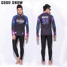 GS Model surf bathing go well with rash guard swim diving fits wetsuit browsing fundamental skins lengthy browsing pants crew rashguard