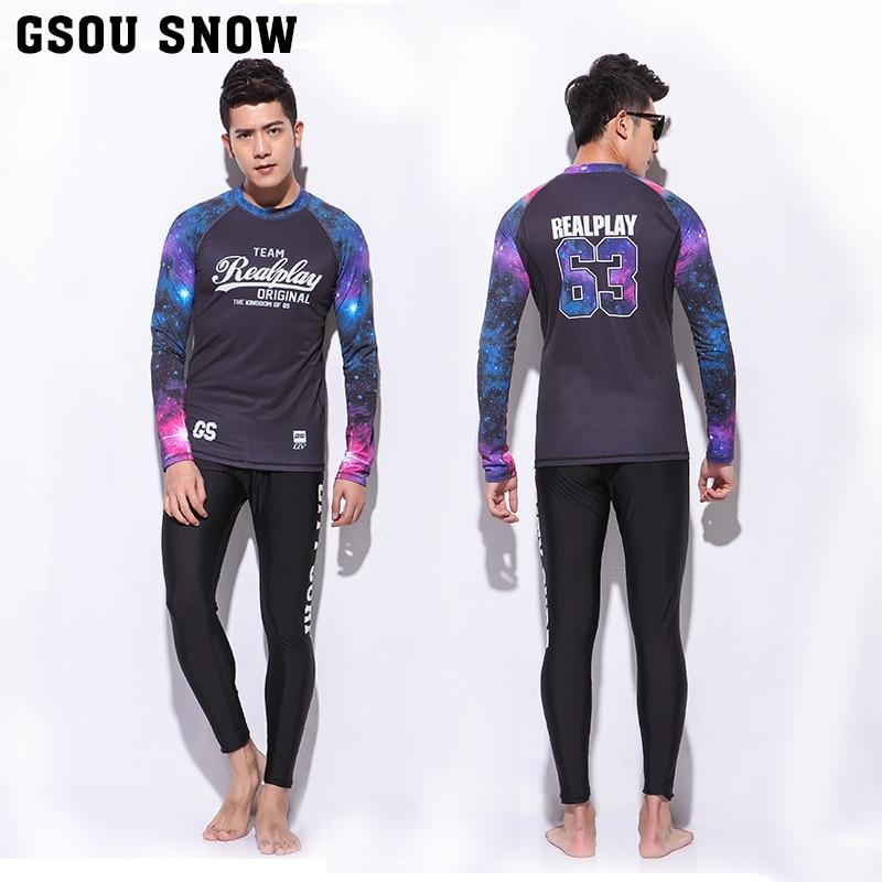 GS Brand surf bathing suit rash guard swim diving suits wetsuit surfing basic skins long surfing pants crew rashguard upf50 rashguard bodyboard al004