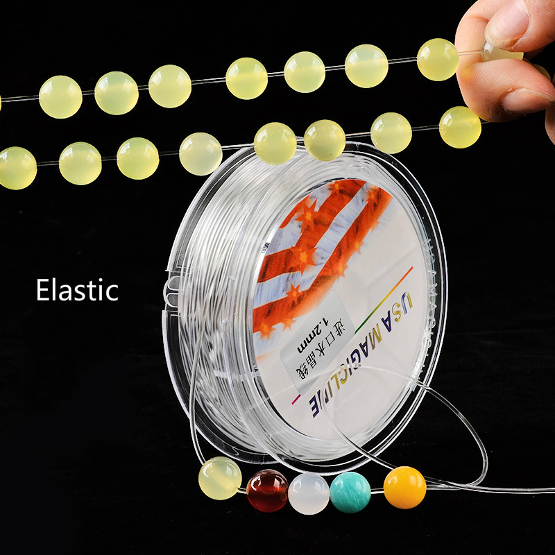 MOQ=1pc Luck Jewel Transparent Elastic Cords Good Quality Wholesale DIY Jewelry Accessories Round Beading Wire Making Bracelet