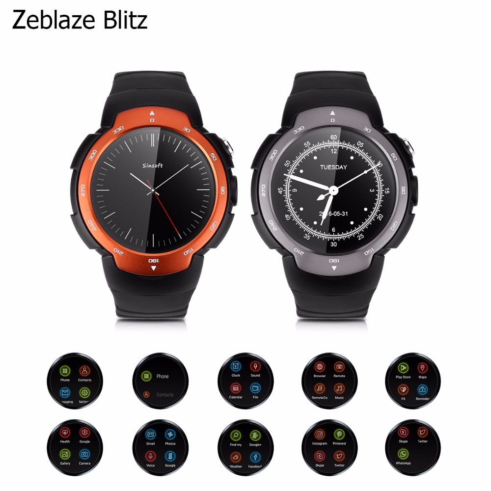 Smart Phone Watch 3G/2G WiFi Zeblaze Blitz Android 5.1 MTK6580 Quad Core WCDMA GSM Smart Watch GPS Bluetooth 4.0 Camera SIM kgs