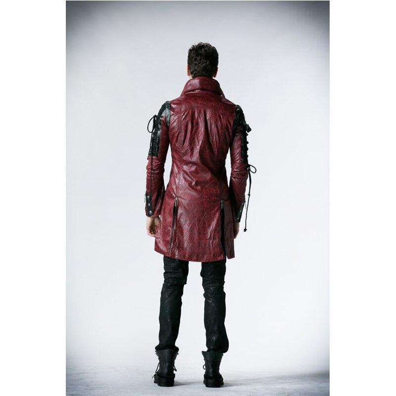 Punk Rave Gothic Man Made di Cuoio Rock con borchie Giacca di Cotone Cappotto Streampunk HoodieLot S 3XL Y349-in Giacche da Abbigliamento da uomo su  Gruppo 2