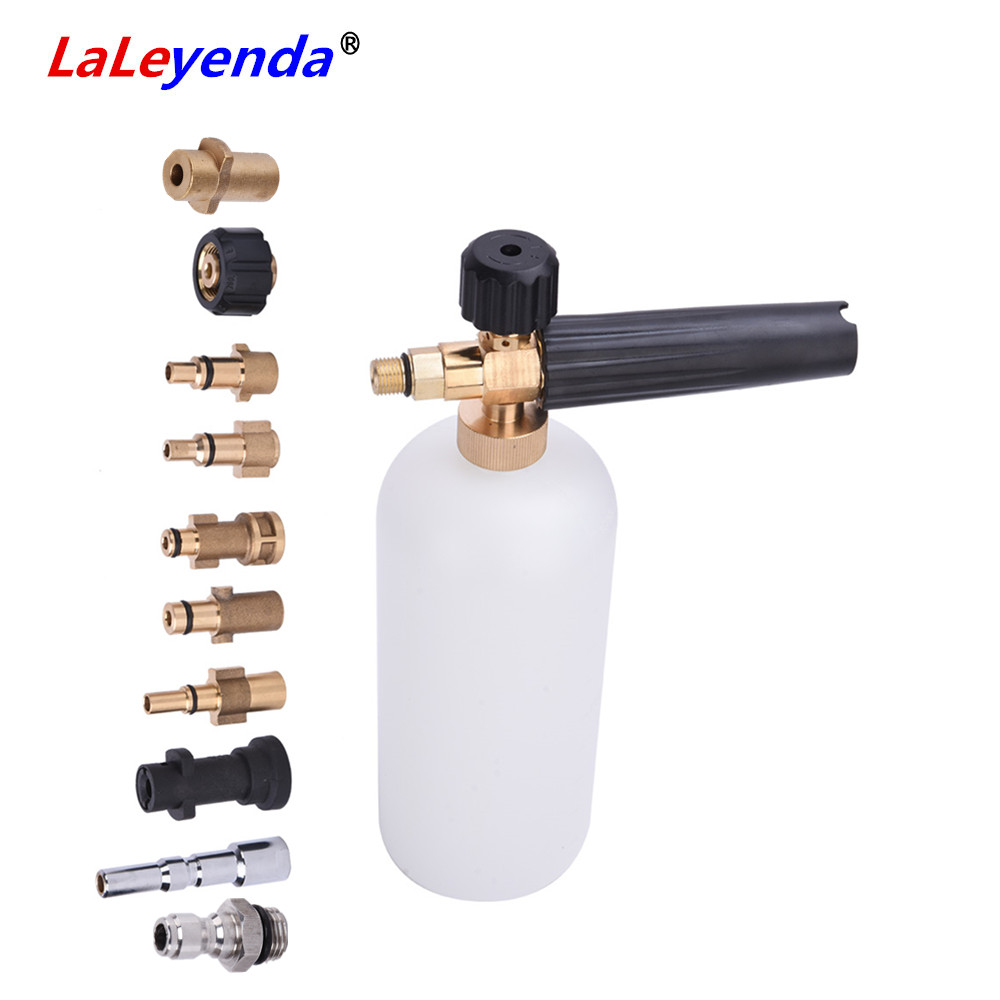 LaLeyenda Car Wash Snow Foam Cannon With Adaptors Karcher Soap Foamer Gun Washer Nozzle Spray For Nilfisk/Bosch/Quick G14/LAVOR