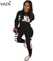 VAZN Top Quality New 2018 Casual Jumpsuit Overalls For Women Long Jumpsuit Full Sleeve Sexy Rompers TS728