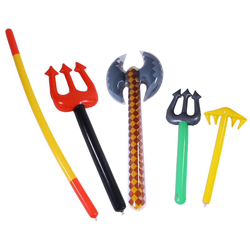 New Inflatable Golden Cudgel Kids Garden Yard Toys Kids Toys Pirate Swords Shape Anime Inflatable Ax Children Gifts Outdoor Toys