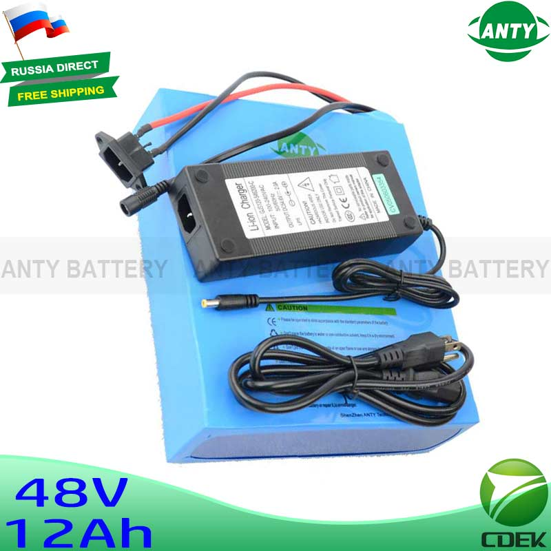 Bestseller 48V 12Ah 500W Electric Bicycle Battery eBike 18650 Lithium Battery With 54.6V 2A Charger 15A BMS  Bike Battery 48V 30a 3s polymer lithium battery cell charger protection board pcb 18650 li ion lithium battery charging module 12 8 16v