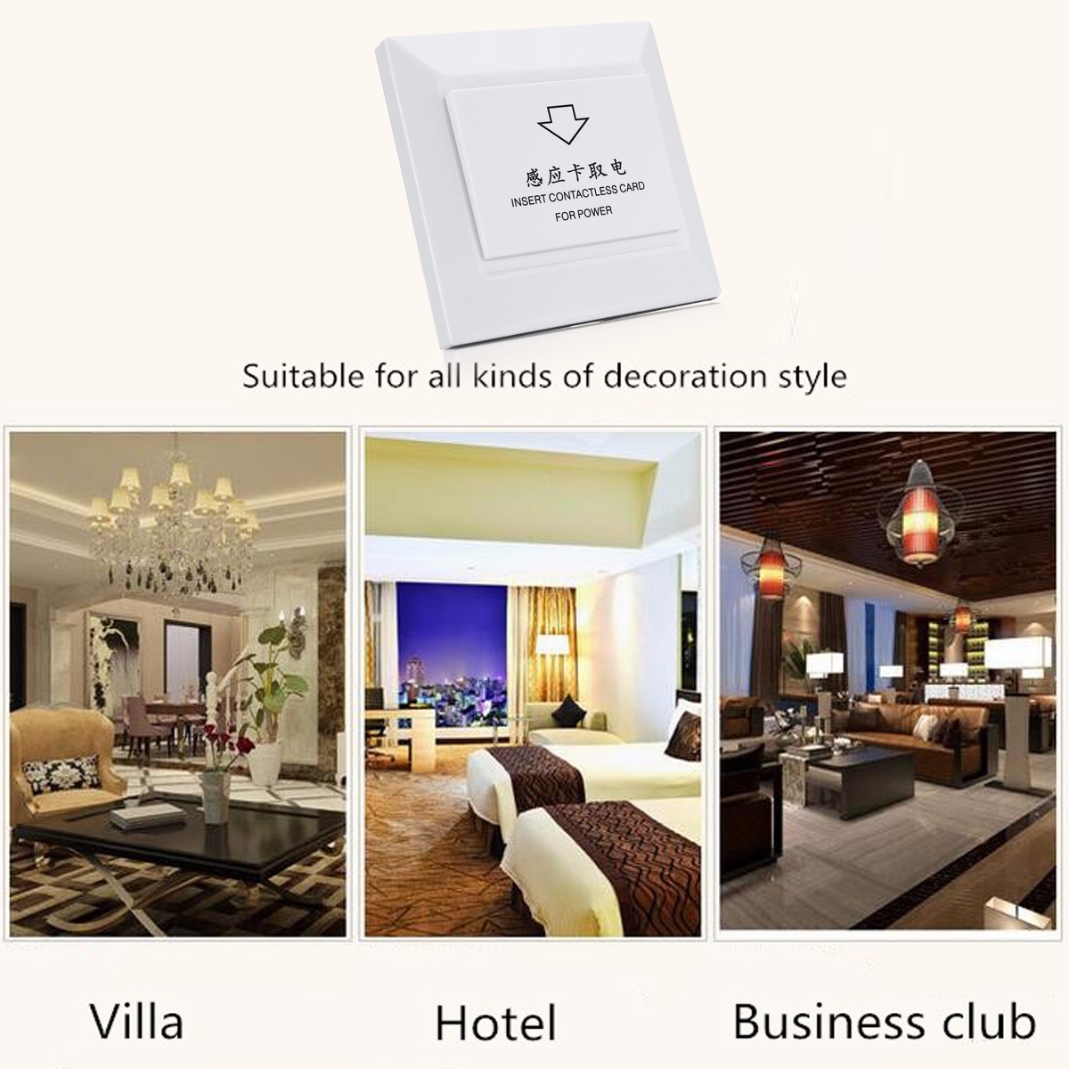 Power Switch 86mm Rfid Card Smart Induction Hotel 40A Timer Delay Energy Saving Energy Saving Automatic for Villa Business Club extension anderson 86 type high power human body induction switch corridor led energy saving lamp induction high power relay