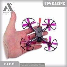 Mengagumkan F100 100mm mini FPV Racing PNP RC Drone Quadcopter Drone dengan OSD Omnibus F3 5.8G 25 mW Blheli_S 10A 600TVL Kamera RC DIY