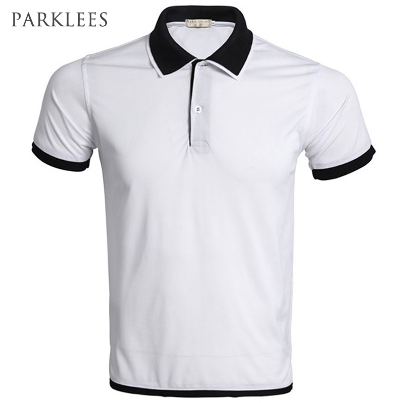 Brand White   Polo   Shirt Men   Polo   Homme 2016 Summer Style Double Collar Design Solid Color   Polo   Shirts Casual   Polos