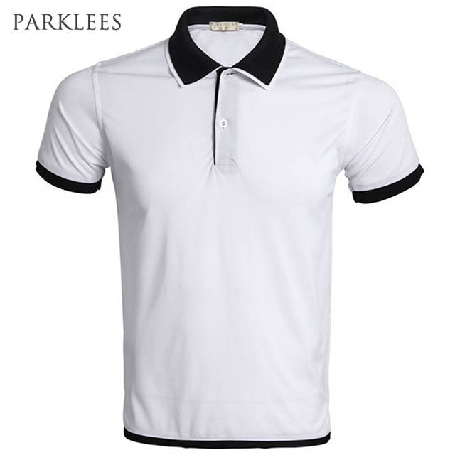 49c838138af30 placeholder Marca polo homens da camisa do polo homme branco 2016 estilo  verão projeto gola dupla cor