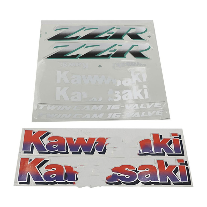 Motorcycle Sticker Decal Fairings Body Stickers Fuel Tank Decals Set For Kawasaki ZZR250 ZZR400 ZZR 250 400 ZZR-250 ZZR-400