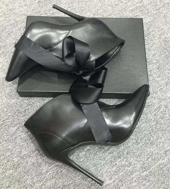 6c9848cd Gratis 35 Cinta Zapatos Cuero Tacón Mujeres 2019 Envío Alto Tobillo De Sexy  Nuevo Encaje 43 Botas Negro RZ6Oxwdq