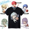 Anime Kuroko no Basuke 5 figures all Tetsuya Ryota Shintaro Akashi Cosplay t-shirt Summer 100%Cotton tshirt in stock freeship