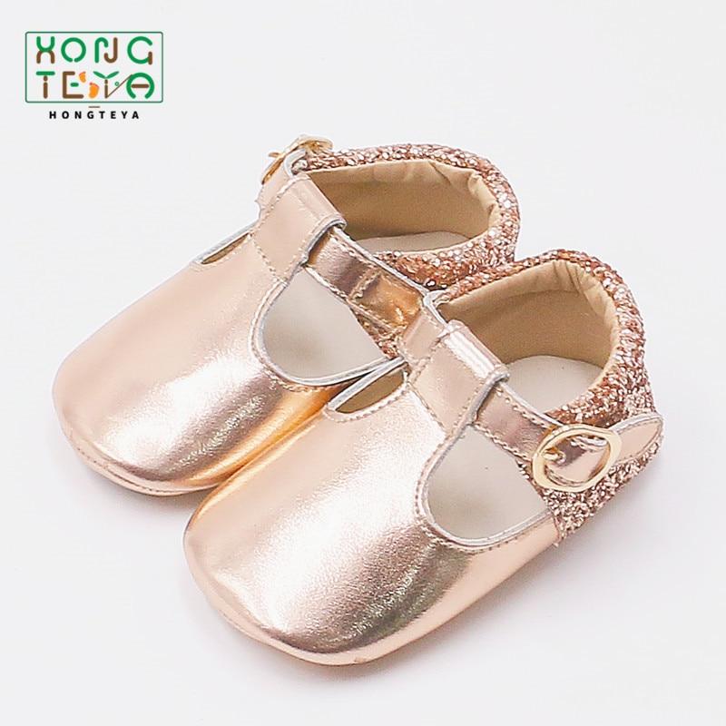 Fashion Rose Gold Baby Girls Ballet